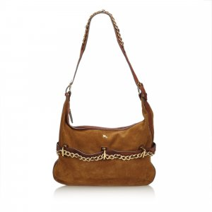 Burberry Leather Chain Hobo Bag