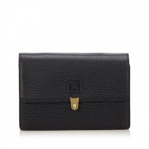 Burberry Leather Clutch Bag