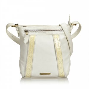 Burberry Crossbody bag white leather