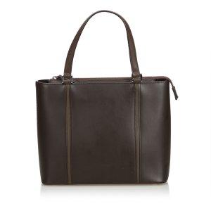 Burberry Sac à main brun foncé cuir