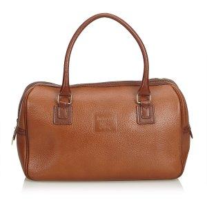 Burberry Sac à main brun cuir