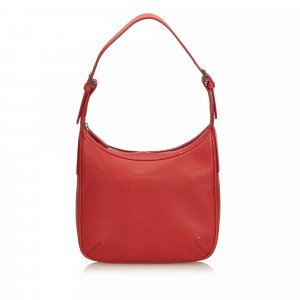 Burberry Sac hobo rouge cuir