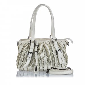 Burberry Satchel white leather