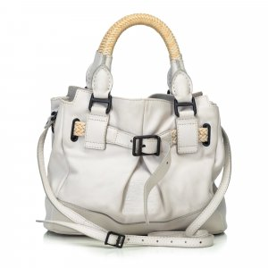 Burberry Satchel wit Leer