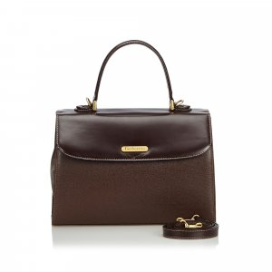 Burberry Satchel black leather