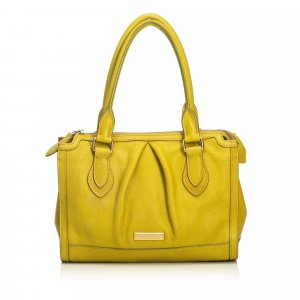 Burberry Satchel yellow leather