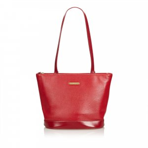 Burberry Shoulder Bag red leather