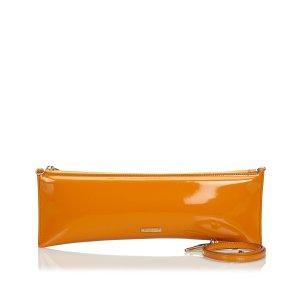Burberry Bolsa de hombro naranja Cuero