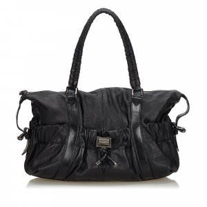 Burberry Shoulder Bag black leather