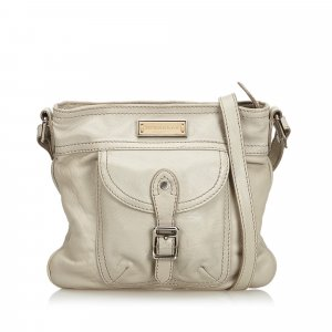 Burberry Shoulder Bag white leather