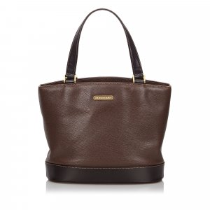 Burberry Shoulder Bag dark brown leather