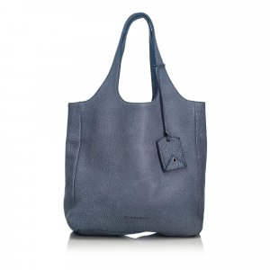 Burberry Bolso de compra azul Cuero