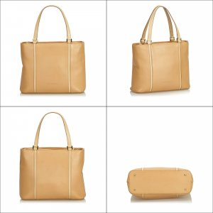 Burberry Tote beige leather