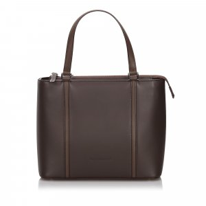 Burberry Tote dark brown leather