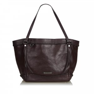 Burberry Tote purple leather