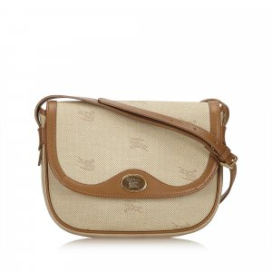 Burberry Leather-trimmed Crossbody Bag