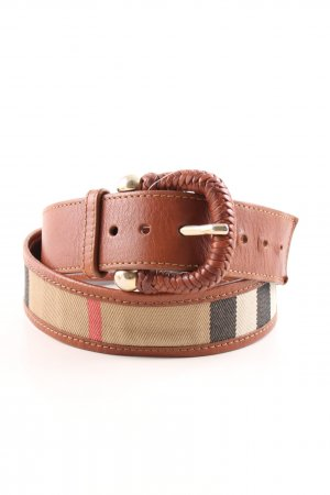 Burberry Leather Belt multicolored casual look
