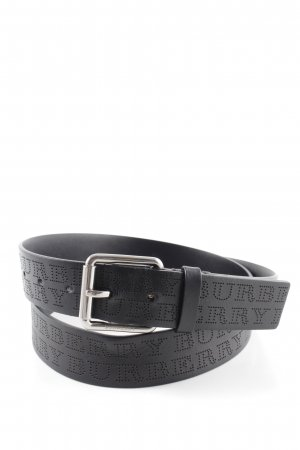 "Burberry Cintura di pelle ""Perforated Logo Belt Black"" nero"