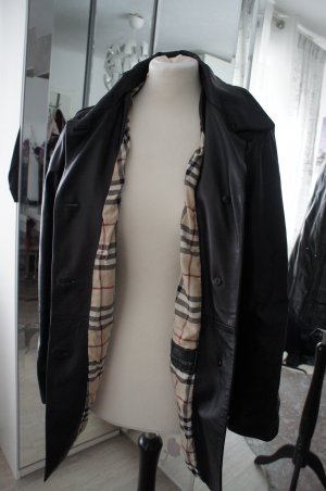 Burberry Giacca in pelle nero Pelle