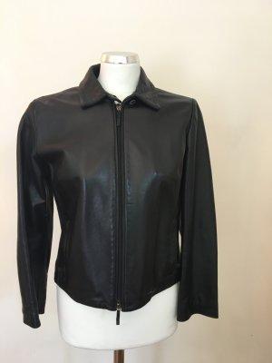 Burberry Lederjacke schwarz Größe 36
