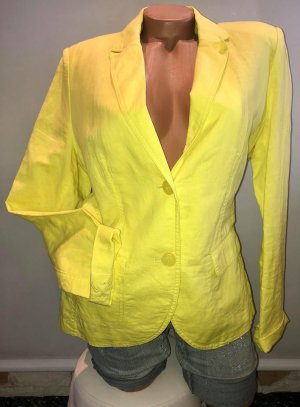 Burberry Leinen Jacke T-shirt in gr 38/40 Neon Gelb Srass