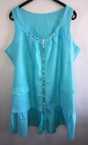 Burberry Tunic Dress turquoise linen