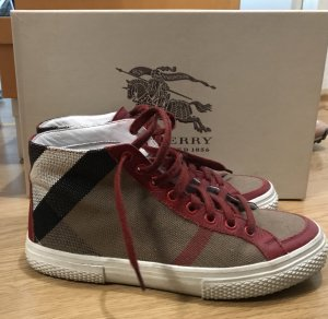 Burberry Linen Check High Top Sneaker