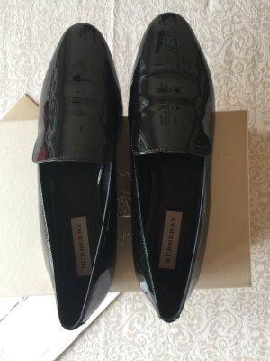 Burberry Loafer Slipper Balerina Schuh 39 schwarz Leder