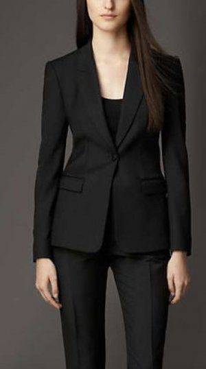 Burberry London Blazer Jacke Schwarz Wolle 34 Business Jacket Black XS Top w Neu