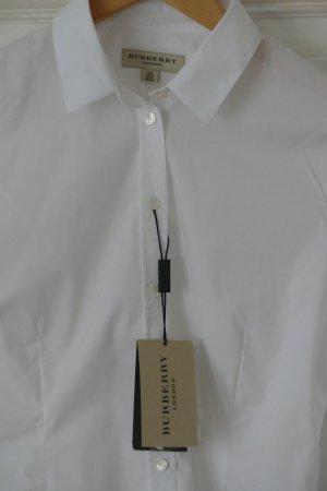 Burberry London Bluse Hemd aus Stretch baumwolle weiß Gr 36 S Neu weiß