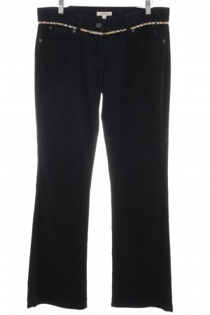 Burberry London Pantalón de pana negro look casual