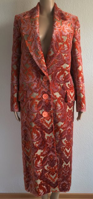 Burberry London, Damask Velvet Jacquard Coat, rose-pink, 34/36 (It. 38), neu, € 2.550,-