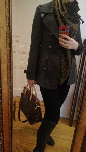 Burberry London Damen Peacoat Mantel Jacke Grau 36 S NEU Wolle Kaschmir