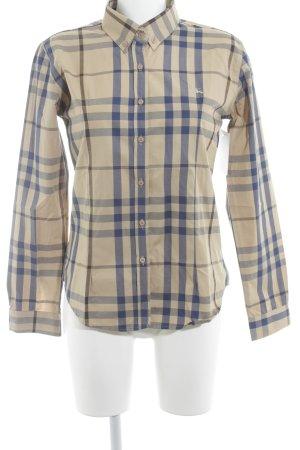 Burberry London Hemd-Bluse beige-blau Karomuster klassischer Stil