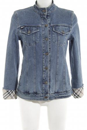 Burberry London Jeansjacke Karomuster Casual-Look