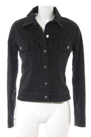 Burberry London Jeansjacke schwarz Casual-Look