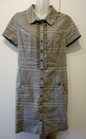 Burberry London Kleid Hemkleid kariert mit Rüschen Gr. 36 Vintage