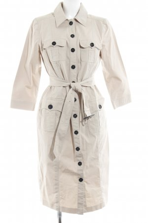 Burberry London Langarmkleid beige Safari-Look