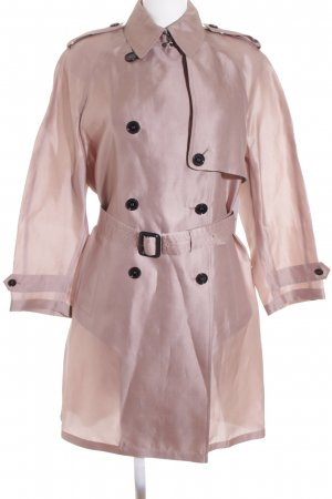 Burberry London Lange Jacke altrosa Elegant