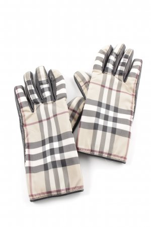 Burberry London Leather Gloves check pattern business style