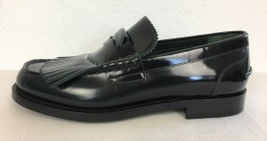 Burberry London, Loafer Bedmoore Fringe, Bottle Green, Leder, 39, neu, € 600,-