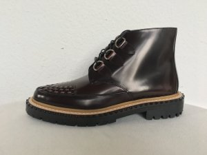Burberry London, Melton Ankle Boots, Leder, bordeaux, 40, neu, € 650,-