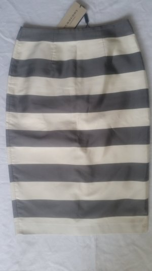 Burberry London, Rock, grau/creme, 38, Seide/Cotton, neu, € 690, -