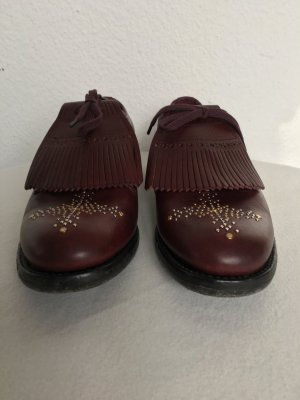 Burberry London, Schnürschuhe, Leder, bordeaux (cerise purple), 41, neu, € 675,-