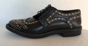 Burberry London, Schnürschuhe mit Nieten, Leder, schwarz, 38,5, neu, € 850,-