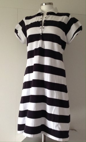 Burberry London Robe t-shirt noir-blanc coton