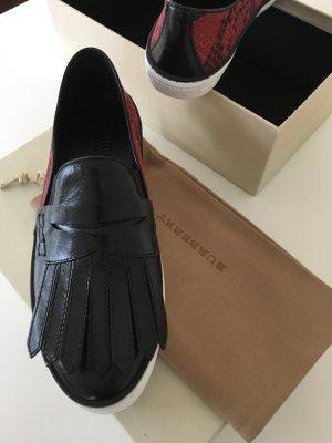 Burberry London Sneaker rosso scuro