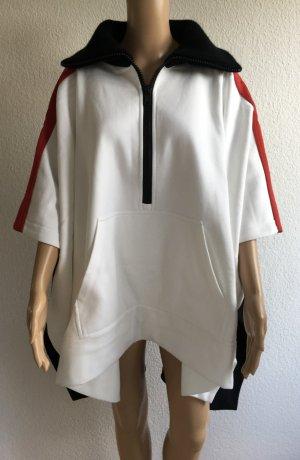 Burberry London, Sporty Poncho, weiß-rot-schwarz, neu