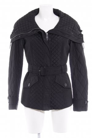 Burberry London Steppjacke schwarz Steppmuster Casual-Look