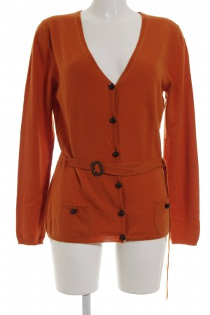 Burberry London Strick Cardigan orange klassischer Stil